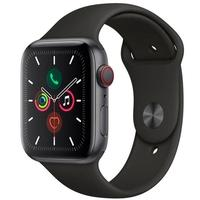 Apple Watch Series 5, GPS, 44mm, Cinza Espacial, Pulseira Preta - MWWE2BZ/A