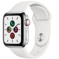 Apple Watch Series 5, GPS, 40mm, Prata, Pulseira Branca - MWX42BZ/A