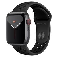 Apple Watch Nike Series 5, GPS, 40mm, Cinza Espacial, Pulseira Preta - MX3D2BZ/A