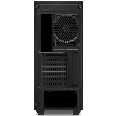 Gabinete Gamer Sharkoon LIT200, Mid Tower, RGB, com FAN, Lateral em Vidro - LIT200