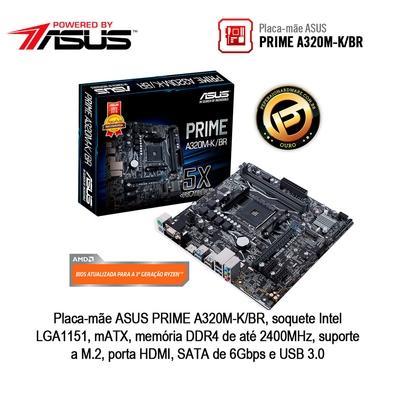 Computador Gamer BRX POWERED BY ASUS AMD Ryzen 5 3400G, 16GB, 1TB, SSD 120GB, Asus NVIDIA GeForce GTX 1660 6GB, Windows 10 Pro - BRXR3400161000750W