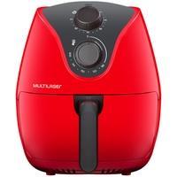 Fritadeira Elétrica Sem Óleo Multilaser Air Fryer, 4 Litros, 220V, Vermelha - CE084