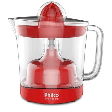 Espremedor de Frutas Philco Citrus Turbo, 1.5 Litros, 110V, Vermelho - 103301044