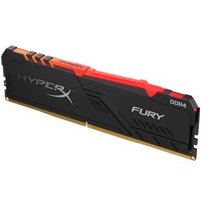 Memória HyperX Fury RGB, 8GB, 3600MHz, DDR4, CL17, Preto - HX436C17FB3A/8
