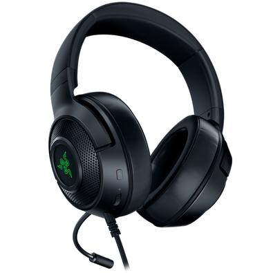 Headset Gamer Razer Kraken X USB, LED Verde, Som Surround 7.1, Drivers 40mm - RZ04-02960100-R3U1