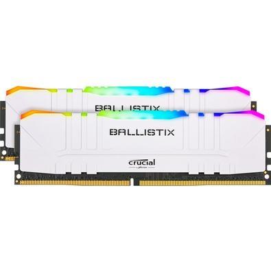 Memória Crucial Ballistix Sport LT, RGB, 16GB (2X8), 3000MHz, DDR4, CL15, Branca - BL2K8G30C15U4WL