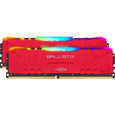 Memória Crucial Ballistix Sport LT, RGB, 16GB (2X8), 3200MHz, DDR4, CL16, Vermelha - BL2K8G32C16U4RL