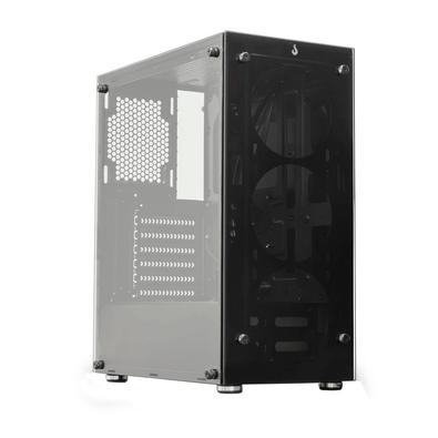 Gabinete Rise Mode Gamer Glass 06, Mid Tower, Lateral e Frontal em Vidro - RM-CA-06-FB
