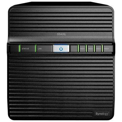 Storage Synology NAS DiskStation DS420j, 64TB, sem Disco, 4 Baias - DS420j