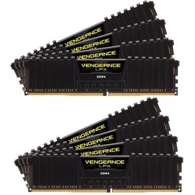 Memória Corsair Vengeance LPX 256GB (8x32GB) 3000Mhz DDR4 C16 Black - CMK256GX4M8D3000C16