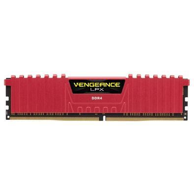 Memória Corsair Vengeance LPX 8GB (2x4GB) 2666Mhz DDR4 C16 Red - CMK8GX4M2A2666C16R
