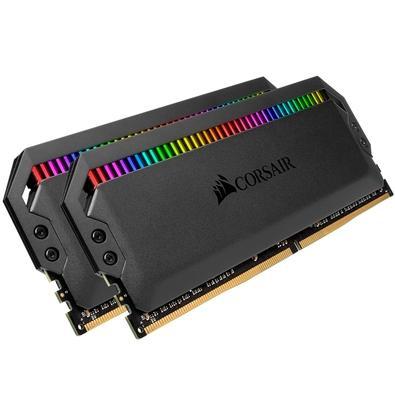 Memória Corsair Dominator RGB 32GB (2x16GB) 4000MHz  DDR4  C19 Black - CMT32GX4M2K4000C19