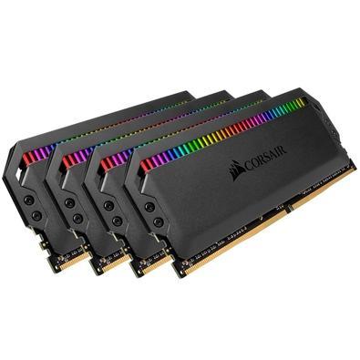 Memória Corsair Dominator RGB 64GB (4x16GB) 3600MHz  DDR4  C16 Ryzen Black - CMT64GX4M4Z3600C16