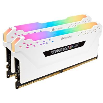 Memória Corsair Vengeance RGB Pro 32GB (2x16GB) 2666MHz DDR4 C16 White - CMW32GX4M2A2666C16W