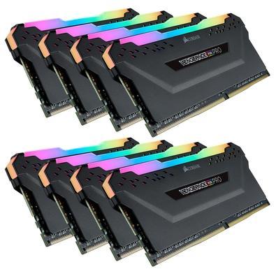Memória Corsair Vengeance RGB Pro 64GB (8x8GB) 3200MHz DDR4 C16 Black - CMW64GX4M8C3200C16