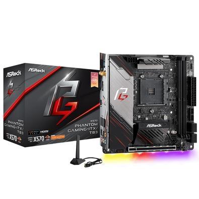 Placa-Mãe ASRock X570 Phantom Gaming ITX/TB3, AMD AM4, Mini-ITX, DDR4