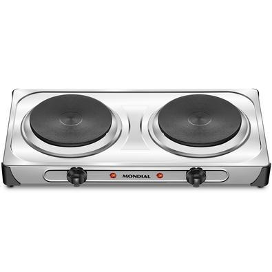 Fogão Elétrico Mondial Fast Cook Dual, 2 Chapas de Aquecimento, 6 Temperaturas, 2000W, 110V - FE-03