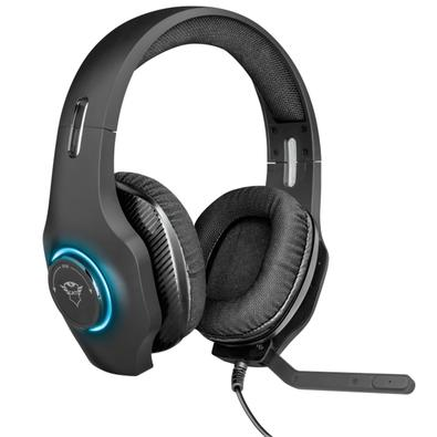 Headset Gamer Trust GXT 455 Torus, RGB, Drivers 50mm - 23138