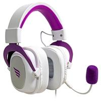 Headset Gamer Fallen Morcego, 7.1 Som Surround Virtual, Drivers 53mm, Branco/Roxo