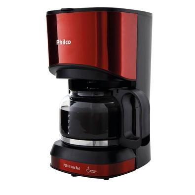 Cafeteira Elétrica Philco Inox Red PCF41, 30 Xícaras, 800W, 220V, Vermelho/Inox - 53902050