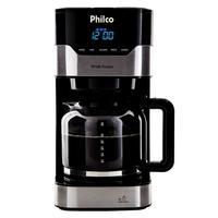 Cafeteira Elétrica Philco PCF38 Platinum, 38 Xícaras, 800W, 220V, Preto/Prata - 53902041