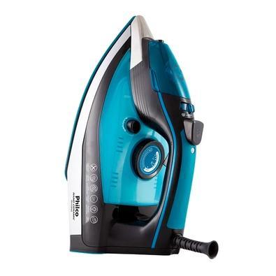 Ferro de Passar a Vapor Philco PFV3100AZ Nano Ceramic, 1680W, 220V, Preto/Azul - 53602039