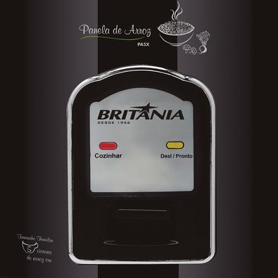 Panela de Arroz Elétrica Britânia PA4X, 5 Xícaras, 220V, Preta - 66402087