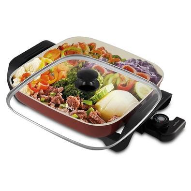 Panela Elétrica Britânia Super Chef Ceramic BPE05V, 220V, Vermelha - 66402133