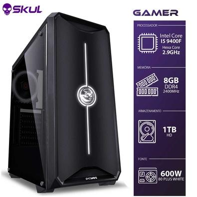 Computador Gamer Skul 5000 Intel Core i5 9400F, 8GB, HD 1TB, Linux - G9400F1T8