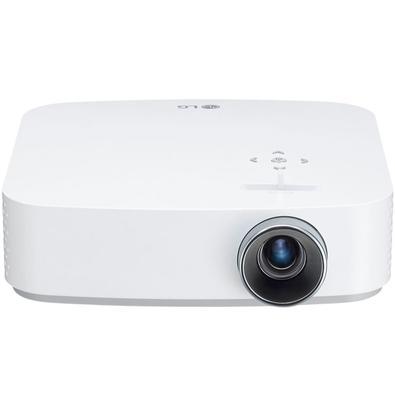 Projetor LG CineBeam Smart TV, Full HD, 600 ANSI Lumens, HDMI/USB, Bluetooth, Wi-Fi, Branco - PF50KS.AWZ