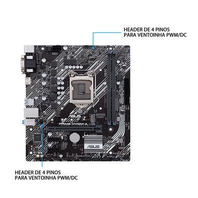 Placa-Mãe Asus Prime H410M-A, Intel LGA 1200, mATX, DDR4