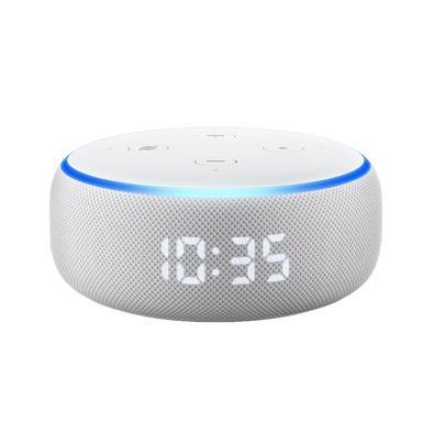 Amazon Smart Home Echo Dot Alexa, com Relógio, 3ª Geração, Branco - B07NQJPQ46