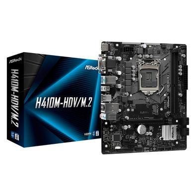 Placa-Mãe ASRock H410M-HDV/M.2, Intel LGA 1200, Micro ATX, DDR4