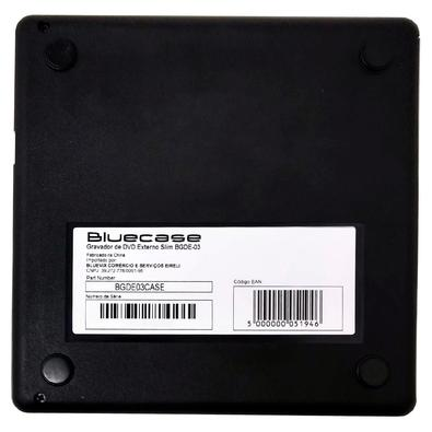 Gravador de DVD Externo Bluecase Slim, USB 2.0 - BGDE03CASE