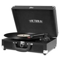Toca Discos Victrola Mini System Portátil, Bluetooth, Preto - VSC-550BT-BLK