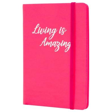 Caderno de Anotações Maxprint Max Neon, Living is Amazing Rosa - 721911