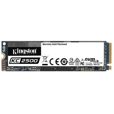 SSD Kingston KC2500, 2TB, M.2 NVMe, Leitura 3500MB/s, Gravação 2900MB/s - SKC2500M8/2000G