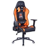 Cadeira Gamer Husky Gaming KaBuM eSport, Preto e Laranja, Com Almofadas, Reclinável, Descanso de Braço 3D - HKE-BO