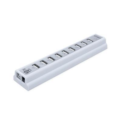 Hub USB MD9, 10 Portas USB 2.0, Branco - 9175
