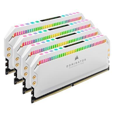 Memória Corsair Dominator Platinum RGB 32GB (4x8GB), 3200MHz, DDR4, C16, Branca - CMT32GX4M4Z3200C16W