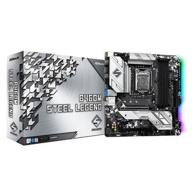 Placa-Mãe ASRock B460M Steel Legend, Intel LGA1200, Micro ATX, DDR4