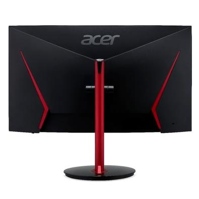 Monitor Gamer Acer Nitro LCD VA, 31.5´, Curvo, Full HD, HDMI/DisplayPort, FreeSync, 165Hz, 1ms, Altura Ajustável, Preto/Vermelho - XZ322Q P