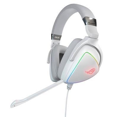 Headset Gamer Asus ROG Delta White Edition, RGB, Drivers 50mm, Branco - 90YH02HW-B2UA00