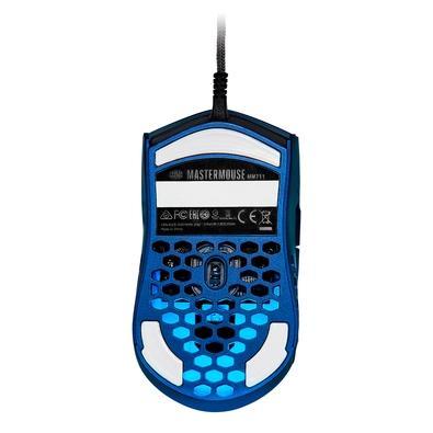 Mouse Gamer Cooler Master MM711, RGB, 6 Botões, 16000DPI, Edição Especial Azul Metálico - MM-711-MBOL1