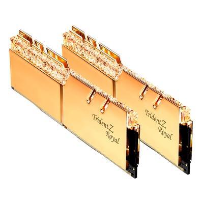 Memória G.Skill Trident Z Royal, 16GB (2x8GB), 3600MHz, DDR4, CL18, Dourado - F4-3600C18D-16GTRG