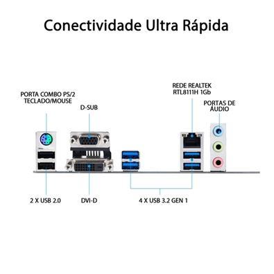 Placa-Mãe Asus Prime B460M-K, Intel B460, mATX, DDR4