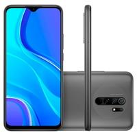 Smartphone Xiaomi Redmi 9, 64GB, 13MP, Tela 6.53', Cinza Carbon Gray + Capa Protetora - CX297CIN