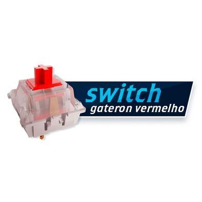 Teclado Gamer Mecânico Falcão-Peregrino V3, RGB, Switch Red, ABNT2