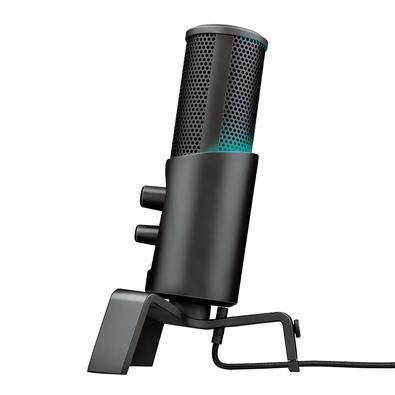 Microfone Streamer Trust Gaming GXT 258 Fyru, LED, USB - 23465