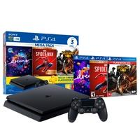 Console Sony PlayStation 4 Mega Pack 17, 1TB, Dreams, Marvel´s Spider-Man Goty Edition e Infamous Second Son - CUH-2214B